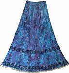 Blue Hue Cotton Skirt