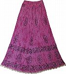 Hibiscus Pink Ladies Skirt