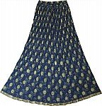Navy Long Length Skirt