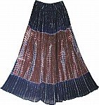 Tie Dye Tinsel Womens Skirt