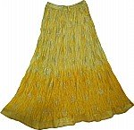 Golden Husk Shiny Summer Skirt