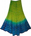 Lima Silk Ethnic Skirt