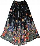 Floral Gypsy Black Skirt
