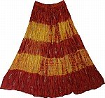 Falu Red Crinkle Tie Dye Skirt