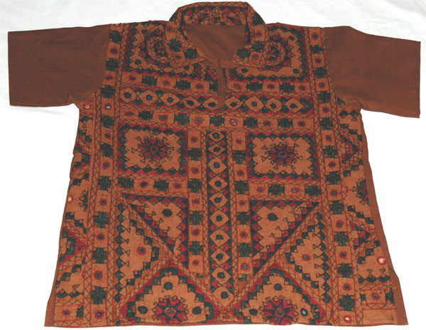 Bohemian Gypsy Embroidered Mirrorwork Shirt