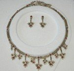Indian Jewelry Set with Red Stones