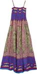 Plum Bohemian Print Dress