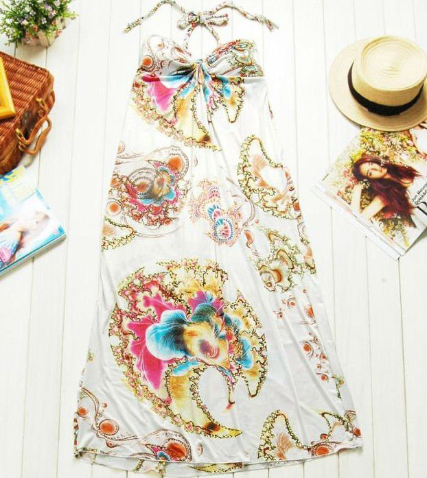 Off White Soft Long Dress, Demoiselle Summer Pool Party Dress