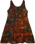 Redwood Brown Eclectic Short Dress