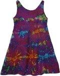 Purple Tie Dye Short Dress