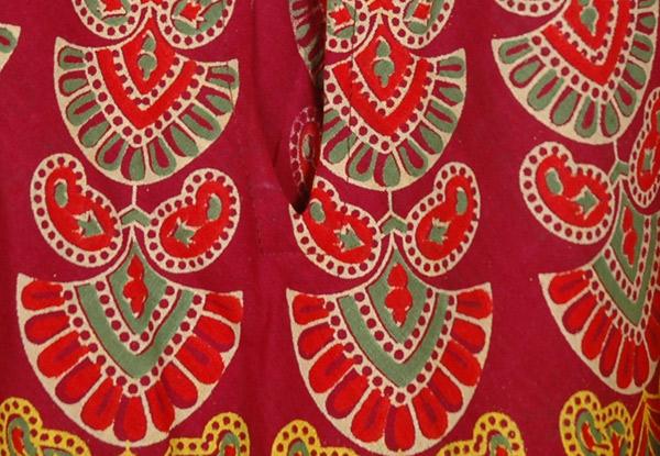 Tamarillo Print Cotton Cover Dress