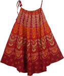 Cremica Red Printed Large Cover Dress