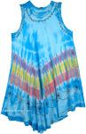 Leisurely Lounge Dress in Maya Blue  [3445]