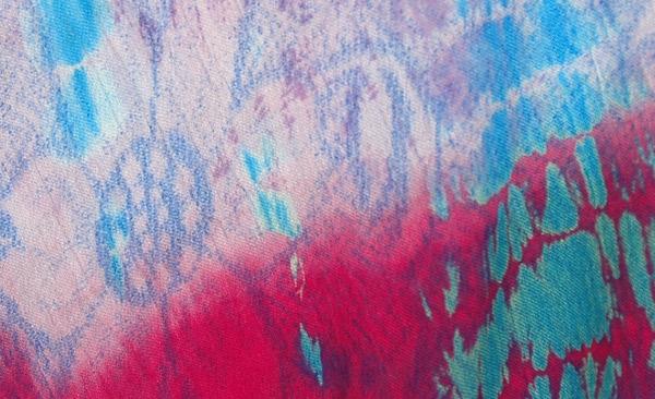 Sleeveless Dyed Sundress with Floral Back Splash