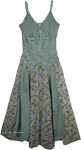 Women`s Fern Green Rayon Long Dress