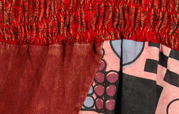 Burnt Umber Patchwork Boho Dress