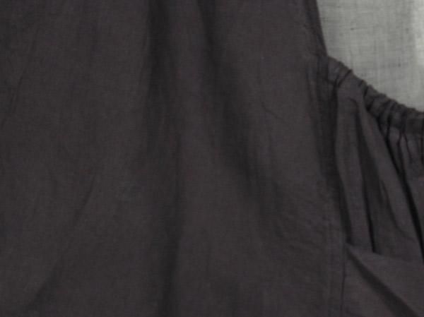 Black Double Layered Cotton Tunic Dress