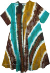 Free-Spirit Striped Floral Sundress [4752]