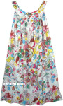Abstract Floral Multicolored Cotton Dress