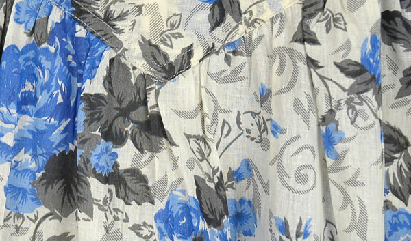 Eastern Blue Lily Cotton Dress