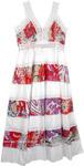 Floral Broomstick Patchwork Summer Dress [4858]