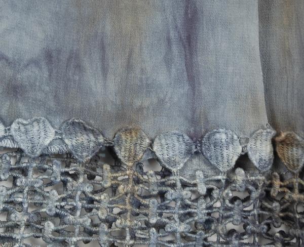 Gray Chateau Tie Dye Crochet Tunic Dress
