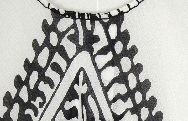 Clarion Black and White Cover Dress