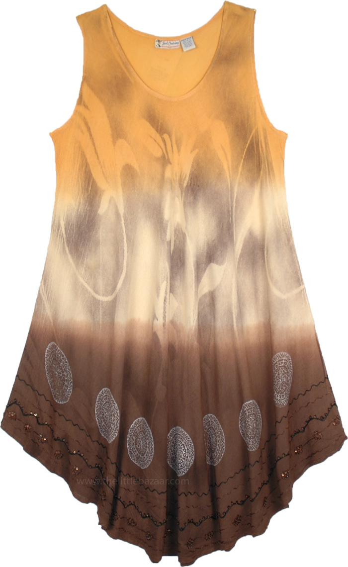 Calming Earth Flowing Drape Dress, Sun To Earth Beach Breeze Cover Up