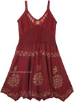 Vintage Look Celtic Festival Midi Length Rayon Dress