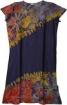Butterfly Blush Blue Boho Tie Dye Long Dress