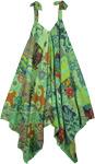 Mint Green Cotton Patchwork Harem Wide Leg Jumpsuit