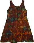 Redwood Brown Eclectic Short Dress