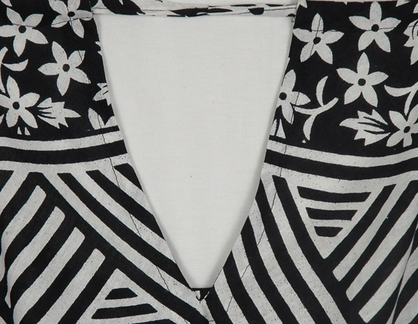 Black and White Ethnic Cover Dress