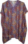 Blue Exquisite Short Kaftan with Sequins