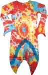 Crochet Sharkbite Hem Scoopneck Tie Dye Dress