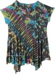 Tie Dyed Woven Cap Sleeve Short Dress