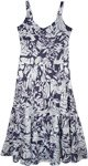 Fun Island Printed Cotton Tiered Summer Dress
