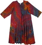 Kaleidoscope Long Sleeve Maxi Dress