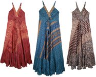 Sleeveless Long Maxi Dress - Assorted Pack Of 3