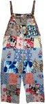 Celestial Garden Hippie Patchwork Cotton Jumpsuit Overalls