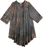 Amethyst Smoke Grey Umbrella Tie Dye Dress