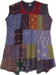 Winter Vibes Mixed Patchwork Rayon Dress Top
