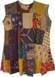 Vintage Bohemian Assorted Patchwork Dress Top