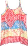Magma Land Dual Strap Tie Dye Printed Short Dress