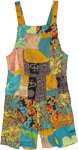 indian Summer Artsy Print Patchwork Playsuit