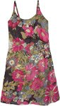 Midnight Floral Dreams Summer Dress with Embroidery Details