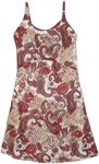 Cherry Garden Summer Dress with Paisley Print and Embroidery