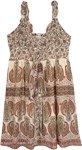 Beige Paisley Garden Printed Midi Dress