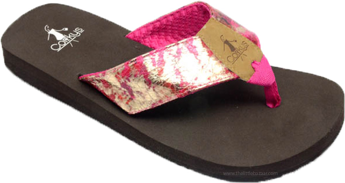 Flip Flops in Hot Pink with Comfort Sole , Fuschia Summer Sun Flip Flop