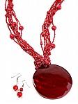 Red Shell Fashion Jewelry